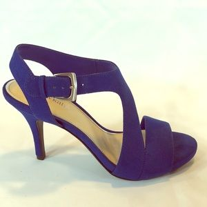 Kelly & Katie Dark royal sueded blue open toe